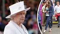 Královna s obavami vyhlíží, co si Kate vezme na sebe příště.