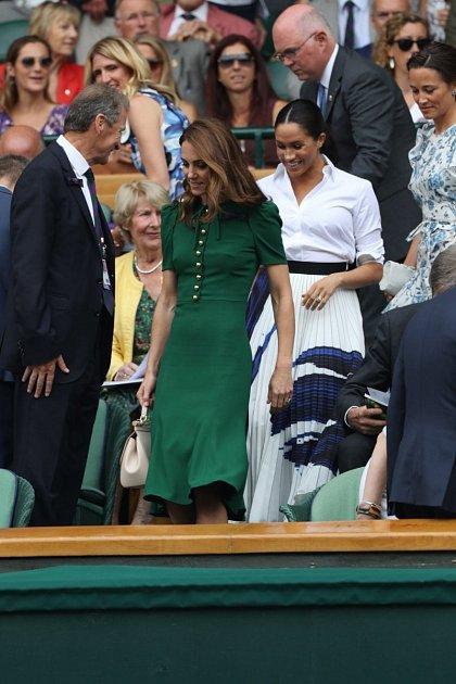 Kate Middleton, Meghan Markle a Pippa Middleton na Wimbledonu