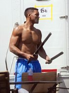 Má biceps hodný boxera.