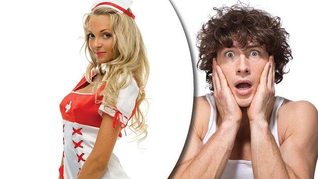 Blond a sexy zdravotní sestra? To už je hodně blízko ideálu.