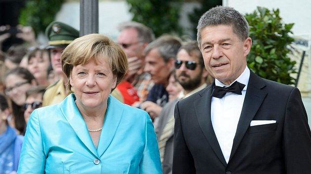 Angela Merkelová s manželem