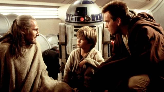 Hvězdné válka: Epizoda I. Jak ve společnosti Liama Nessona (vlevo) a Ewana McGregora.