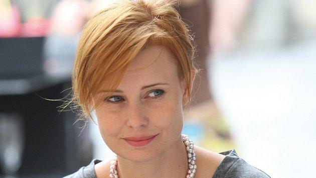 Herečka Jitka Schneiderová.