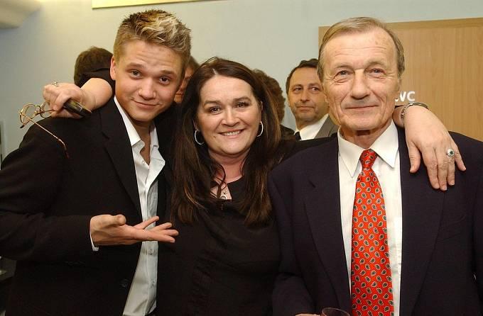 Radoslav Brzobohatý s manželkou Hanou a synem Ondřejem.