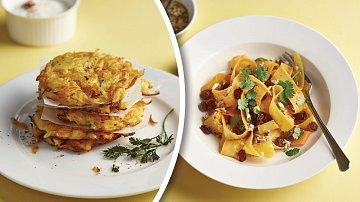 Křupavé bramboráčky a marocký salát