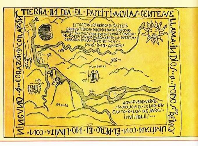 Mapa, která ukazuje cestu kPaititi. Dosud ji nikdo nerozluštil.