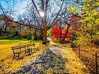 Barevné listí dodává vtěchto dnech parku pohádkovou atmosféru.