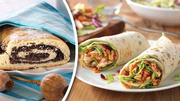 Makový závin a křenová tortilla