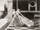 Beatrice snevlastní matkou Lukrecií vlečou mrtvolu khradbám.