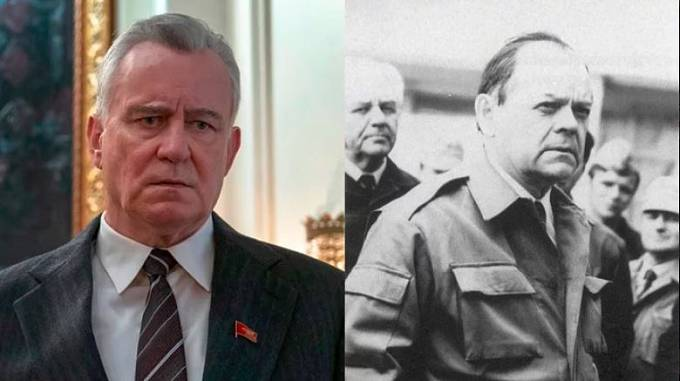 Stellan Skarsgard v roli místopředsedy sovětské rady Borise Shcherbiny
