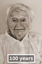 Anna P. ve sto letech.