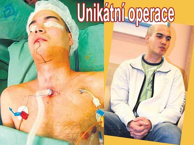 Dušan Matras (27) ze Zlína, je dnes pět měsíců po operaci a kromě jizvy na bradě není patrné, že se před půl rokem smiřoval se smrtí.