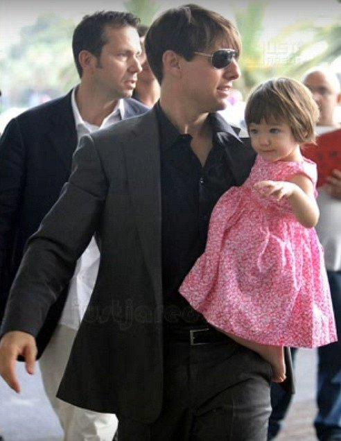 Suri s tatínkem Tomem Cruisem