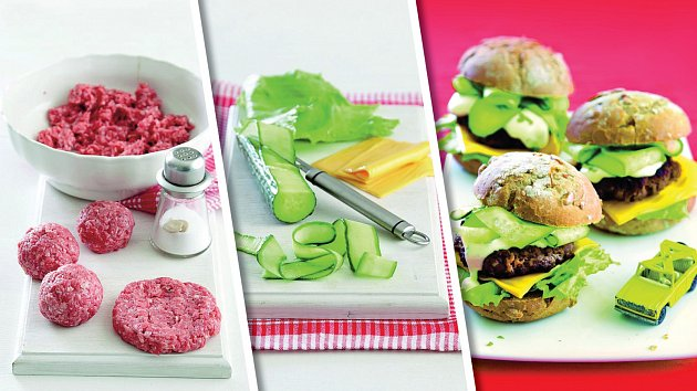 Dětský hamburger rychle a chutně