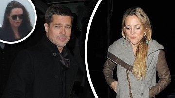 Pitt je s Kate tak spokojený, že si k ní stěhuje věci. A Angelina zuří.