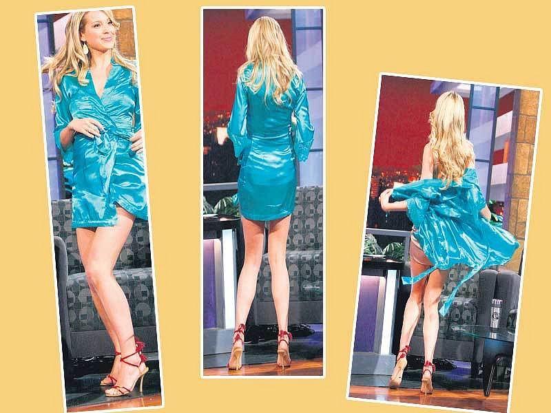 Modelka Petra Němcová v přímém přenosu americké NBC předvedla nejen striptýz, ale ukázala také, že začíná mít problémy s celulitidou.