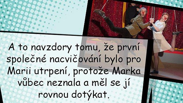 Herečka Marie Doležalová spřítelem Markem Zelinkou čekají miminko.