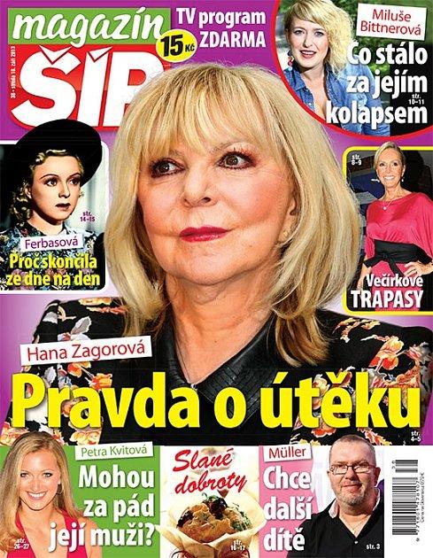 Titulní strana Magazínu Šíp 18.9.2013