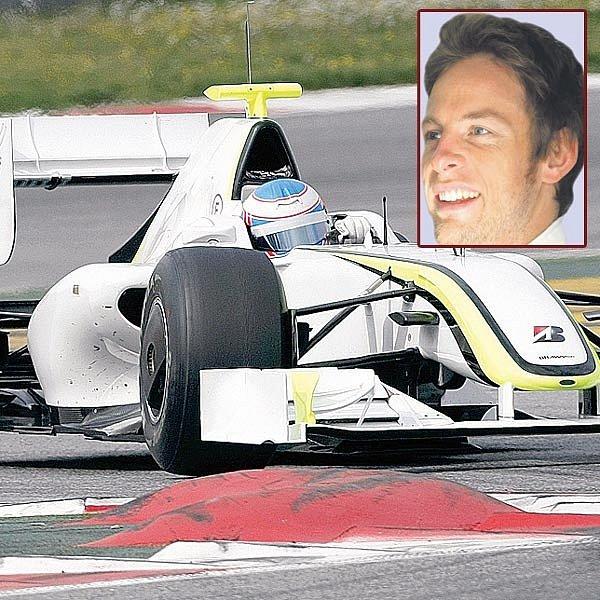 Jenson Button v kokpitu Brawn GP.