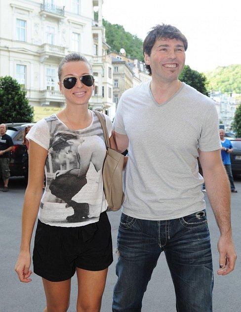 Jaromír Jágr a Puhajková
