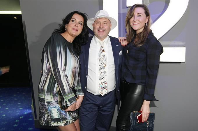 Michal David s manželkou a dcerou