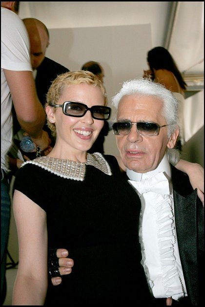Karl Lagerfeld a Kylie Minogue
