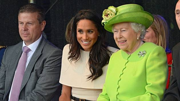 Meghan Markle a královna Alžběta II.