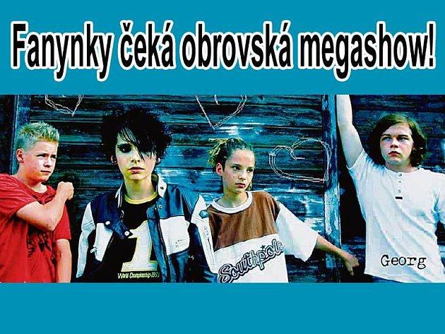 Kluci z kapely Tokio Hotel se na pražské vystoupení velmi těší.