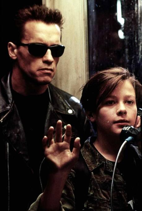 Ve své slavné roli Johna Connora ve filmu Terminátor 2.
