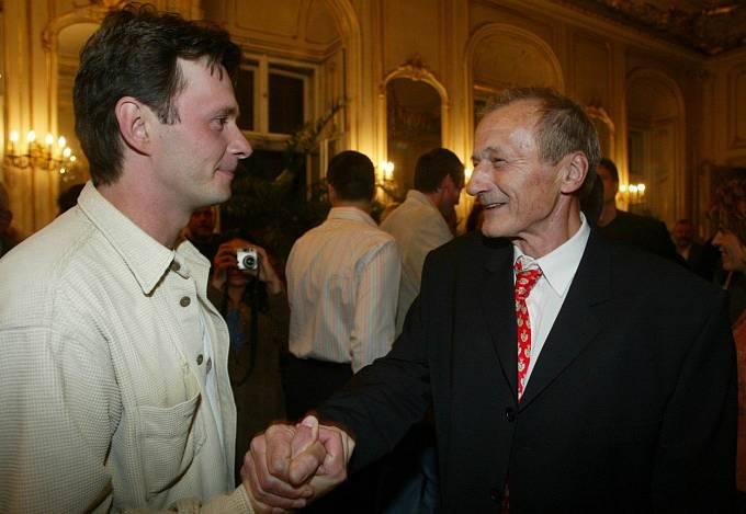 Radek a herec Jan Štěpánek.