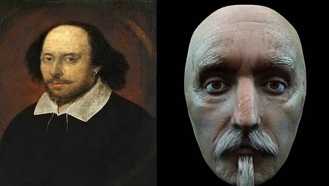 Takhle vypadal anglický dramatik William Shakespeare.