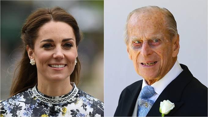 Princ Philip a Kate Middleton
