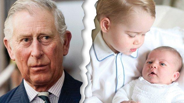 Princ Charles svá vnoučata zná především z časopisů.
