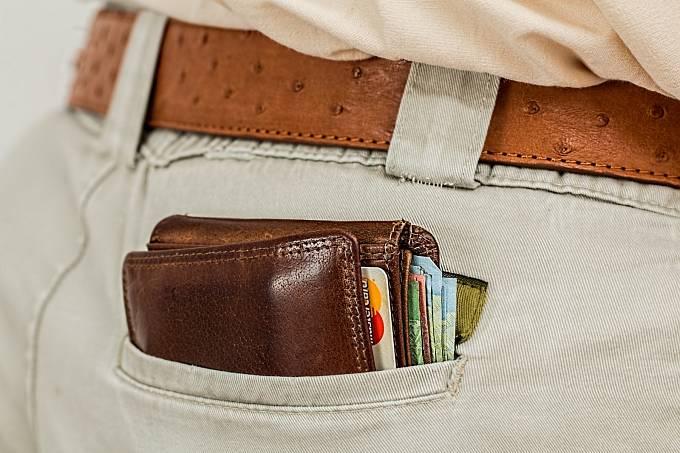 Peněženka, peníze, ilustrační foto