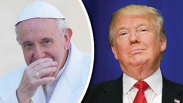 Papež František a Donald Trump