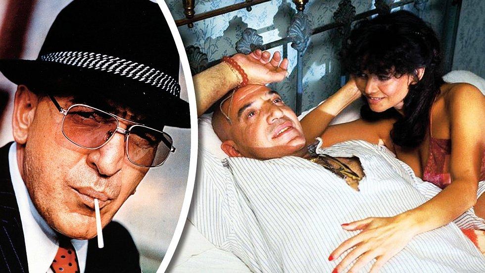 Telly Savalas proslul jako Kojak (vlevo), ale zahrál si třeba také s Claudií Cardinale ve filmu Útěk do Atén.