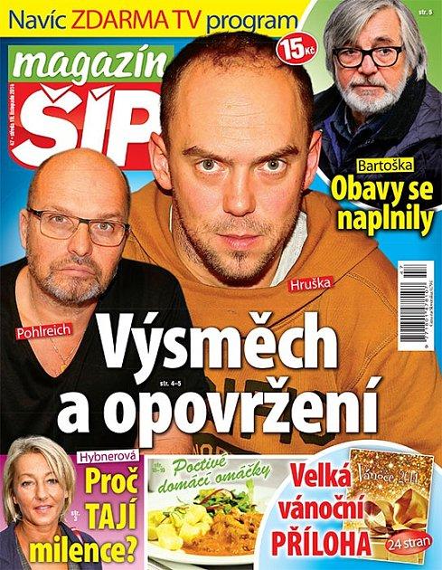 Titulní strana Magazínu Šíp 19.11.2014