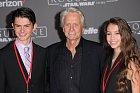 Michael Douglas se synem Dylanem a dcerou Carys