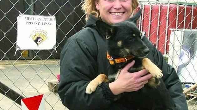 Monika Kolková, provozovatelka psího útulku Lesan v Kralupech nad Vltavou.