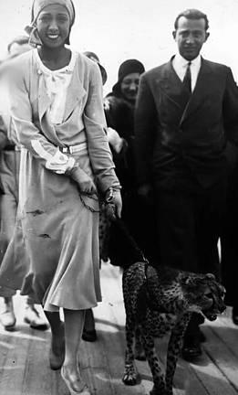 Josephine Baker mívala geparda Chickitu