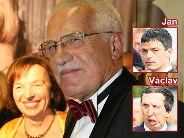 Václav Klaus s ženou Livií a syny