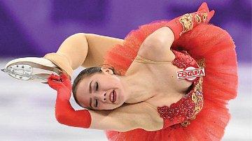 Ruská krasobruslařka Alina Zagitová předvedla víc, než chtěla.