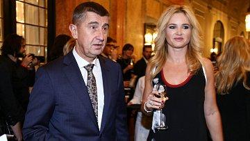 Andrej Babiš s partnerkou Monikou.