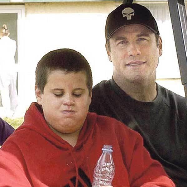 Herec na výletě se synem v květnu roku 2004