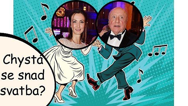 Lucie Gelemová spolu sFelixem Slováčkem trénují tanec na svatbu.