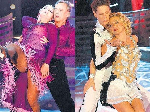 Richard Tesařík (vlevo) a Jana Paulová se svými tanečními partnery