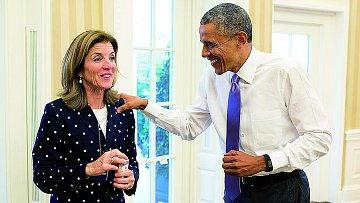 Barack Obama s Caroline Kennedyovou