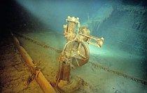 Hlavní kormidlo Titanicu.
