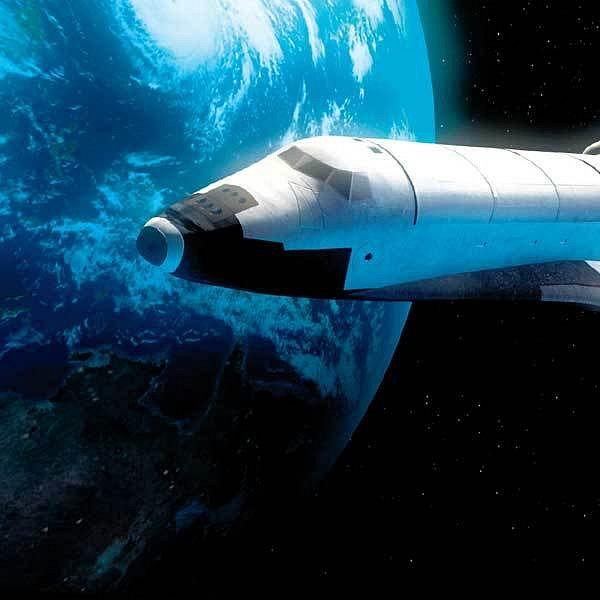 Endeavour po odpojení od mezinárodní kosmické stanice.