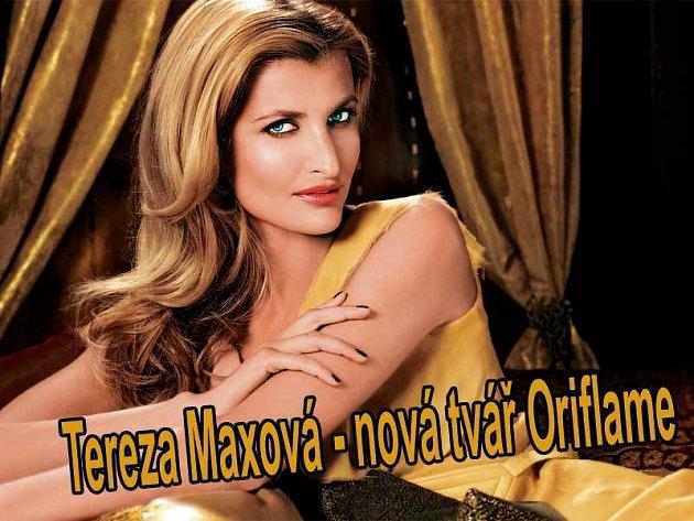 Společnost Oriflame si nemohla vybrat krásnější tvář než tu, která patří Tereze Maxové.